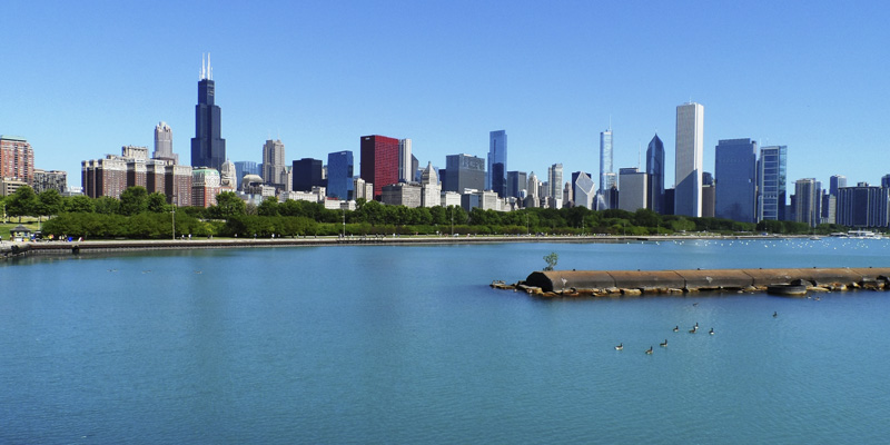 A beautiful view of Chicago
